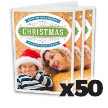 5 x 7inch Greeting Card x 50 @ $1.49 each incl Delivery