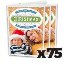 5 x 7inch Greeting Card x 75 @ $1.47 each incl Delivery