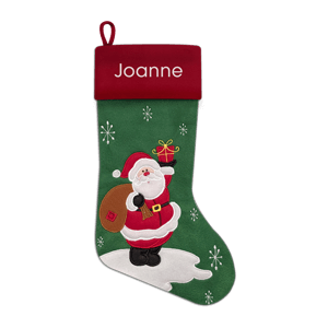 Christmas Stocking<br>Felt Santa