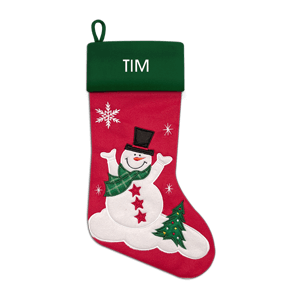 Christmas Stocking<br>Felt Snowman