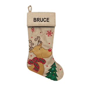 Christmas Stocking<br>Modern Reindeer